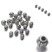 100pcs/Lot Tibetan Silver Loose Charms Spacer Beads Loose Jewelry Findings 4MM