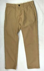 Mens Chinos Trousers Beige Size W30 L29 Zip Fly
