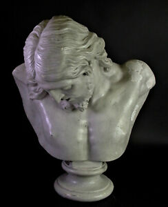 - ausdrucksstarke JESUS CHRISTUS Büste 18./19. Jhd - Stuck marmoriert - H56cm