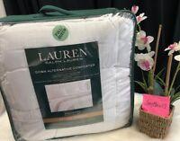 NEW! RALPH LAUREN Bronze Comfort White Down Alternative Comforter FULL / QUEEN