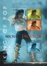 Tanzania - Michael Jackson in Memoriam 1958 - 2009 Sheet of 4 Stamps MNH