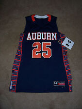 Womens AUBURN TIGERS BASKETBALL JERSEY Under Armour Size 12 Long NWT