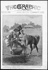 1895 - Antique Print SPORT Ladies Loyd Lindsay Horse Guns Shooting  (146)