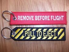 RAF Remove Before Flight & Pull To Eject Key rings uk seller  FREE P+P.