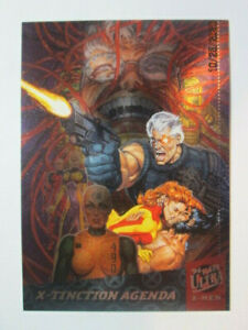 1994 FLEER ULTRA X-MEN - SILVER X-OVER CARD - ( 4 OF 6 ) X-TINCTION AGENDA
