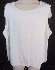 AORA Ivory Sleeveless Pull Over Top Shirt - Women's 3X - G122