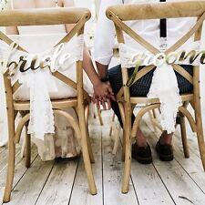 Topper sposa e sposo GOLD CARD SEDIA segni Nozze Decorazione