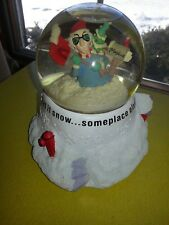 "Hallmark's Maxine ""Let is Snow.someplace else!"" Motorized Winter Snowglobe"