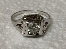 Vintage Art Deco 14K Gold Filigree Solitaire Diamond Engagement Ring