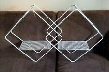 Large Geometric Hanging Dual Wall Shelf Metal White