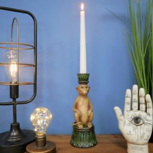 Natural Tones Freestanding Monkey Candlestick Holder 24cm