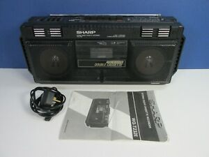 vintage SHARP WQ-T232E STEREO RADIO TAPE CASSETTE RECORDER working PORTABLE