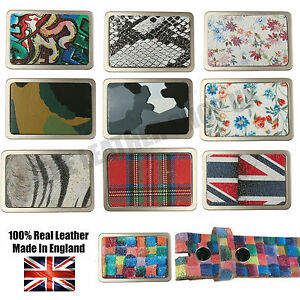 40mm New Best High Quality Removable Pattern Leather Belt Buckles Made In UK