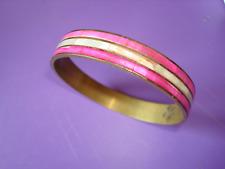 Bracelet retro vintage cuivre et nacre