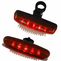 Cycling Night Super Bright Red 5 LED Rear Tail Light Bike Bicycle 7 Modes Lamp