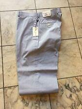 NWT Palm Beach Blue White 100% Cotton Dress Pant Regular Flat Front Size 44/30