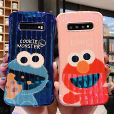 Sesame Street Elmo Cookie Monster Suitcase Blu-ray Phone Case For Samsung S8Plus