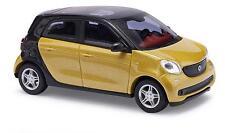 BUSCH 49555 Smart Forfour 2014 CMD amarillo metálico nuevo y emb. orig.