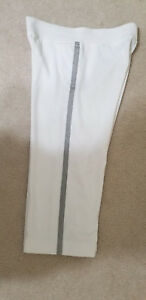 Ralph Lauren Active Capri Fitness Crop Pants White with Silver Side Trim Sz.S (M