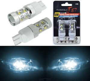 LED Light 50W 7440 White 6000K Two Bulbs Front Turn Signal Replace Upgrade