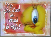 Postcard Cartoon Looney Tunes P'tit clin d'oeil de moi a toi - unposted
