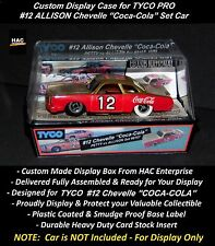 "Custom Display Case: TYCO PRO #12 Allison Chevelle ""COCA-COLA"" 1976 Set Only Car"