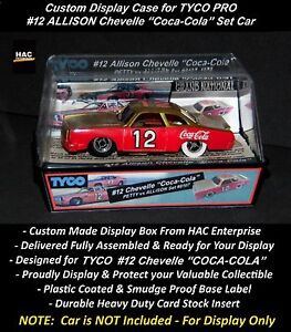 "Custom Display Case: TYCO PRO #12 Allison Chevelle ""COCA-COLA"" 1976 Set Only Car"