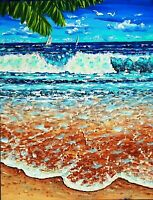 Quality Original Acrylic painting Modern Realism seascape Art