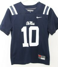 NEW Mississippi Ole Miss Rebels 10 Navy Blue Nike Team Football Jersey Youth S