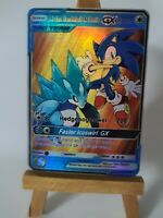 Sonic and Alolan Sandslash Proxy Custom Pokemon Card in Holo