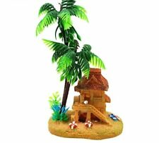 Aquarium Fishes Decorations Coconut Trees Hut Fish Tanks Ornament Decoration New