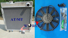 For FORD MUSTANG V8 289 302 WINDSOR 1964 1965 1966 Aluminum Radiator + Fan