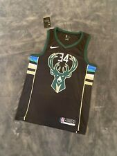 Giannis Antetokounmpo #34 Milwaukee Bucks Black Statement Jersey Fast Shipping