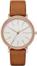 Women's Skagen Hald Brown Leather Strap Watch SKW2488