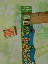 (Vtg) Nutella German Promo_Height Measuring Sticker/Decal + 30 Best Recipes Book