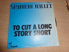 LP 45 GIRI LP TO CUT A LONG STORY SHORT SPANDAU BALLET CHS 2473