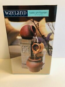Wayland Square Rustic Urn Fountain With LED Lighting