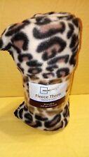 Leopard multi-colored printed fleece throw blanket 50 x 60