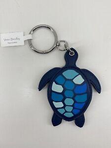 Vera Bradley Turtle Bag Charm Keyring Mirror Blue Island Medallion $36 NWT