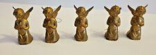 Vintage Five Praying Angel Ornaments-Plastic