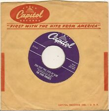 """THE FOUR KNIGHTS """"FIVE FOOT TWO, EYES OF BLUE"""" DOO WOP SP 1951 CAPITOL F 1914"""