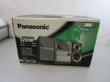 Panasonic Sa-Pm18 5-Cd Changer Digital Am/Fm Cass Executive Micro Shelf System