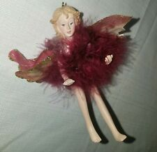 Silvestri Christmas Tree Ornament Angel Fairy Sprite Wings EUC Rare Collectible