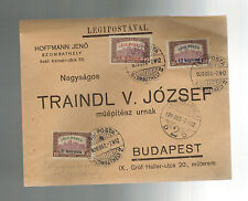 1920 Szombathely Hungary Airmail cover Budapest Jeno Hoffman