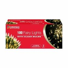 The Christmas Workshop 75220 Shadeless Indoor Clear Fairy Lights - Pack of 100