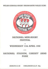 WELSH SCHOOLS NATIONAL MINI FESTIVAL WALES 1990 RUGBY PROG at NATIONAL STADIUM