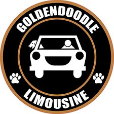 "LIMOUSINE GOLDENDOODLE 5"" DOG STICKER"