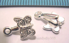 2x STERLING SILVER BUTTERFLY PENDANT BAIL CLASP #609