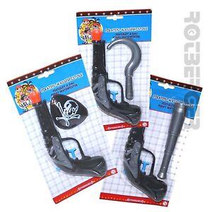 Wasserpistole Kostümzubehör für Piraten mit Augenklappe, Fernrohr oder Haken NEU
