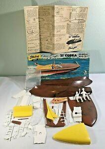 VINTAGE Sterling Plastic Model - Chris Craft 21' Cobra Kit B16-298-Near Complete